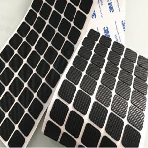 耐磨止滑格纹硅胶垫 透明硅胶垫圈