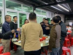 乾成公司2021年元旦聚餐